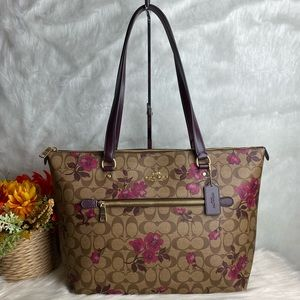 COACH GALLERY TOTE IN WITH VICTORIAN FLORAL PRINT